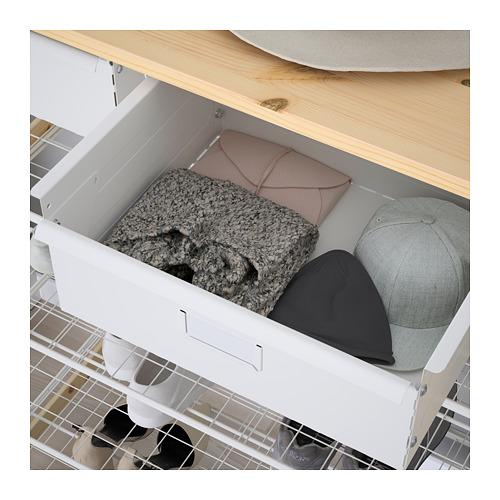 IVAR shelving unit w shelves/drwrs/rail