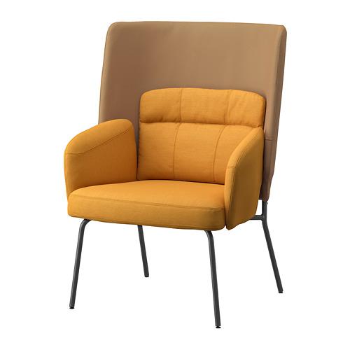 BINGSTA - high-back armchair, Vissle dark yellow/Kabusa dark yellow | IKEA Hong Kong and Macau - PE751422_S4