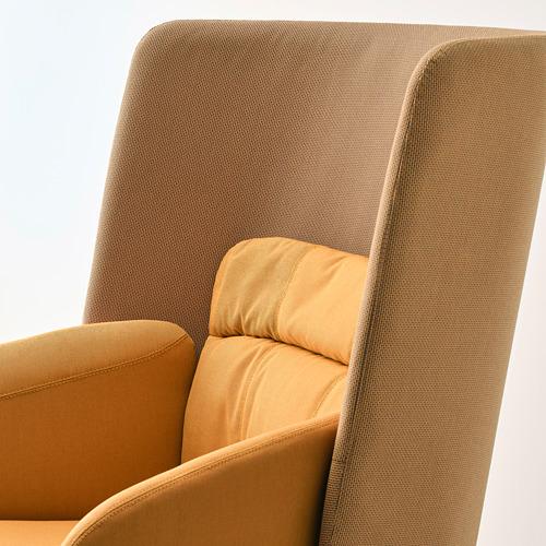 BINGSTA - high-back armchair, Vissle dark yellow/Kabusa dark yellow | IKEA Hong Kong and Macau - PE751425_S4