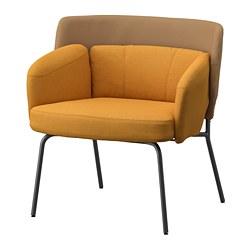 BINGSTA - 扶手椅, Vissle 深黃色/Kabusa 深黃色 | IKEA 香港及澳門 - PE751428_S3