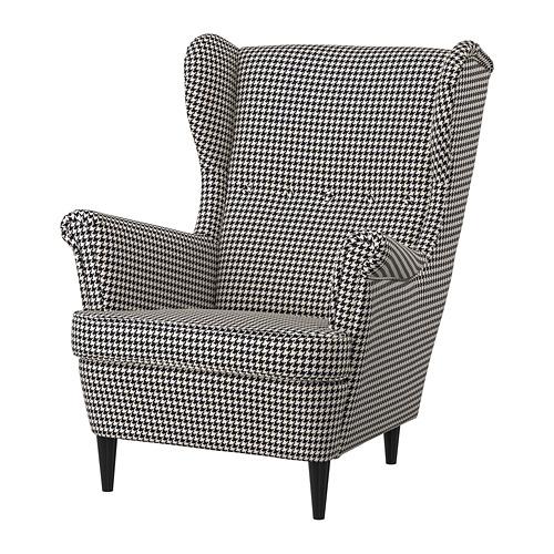 STRANDMON - 扶手椅, Vibberbo 黑色/米黃色 | IKEA 香港及澳門 - PE751434_S4