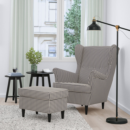 STRANDMON - 扶手椅, Vibberbo 黑色/米黃色 | IKEA 香港及澳門 - PE751435_S4