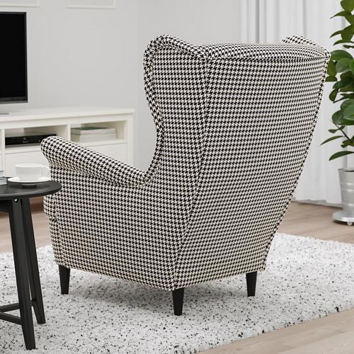 STRANDMON - 扶手椅, Vibberbo 黑色/米黃色 | IKEA 香港及澳門 - PE751437_S4