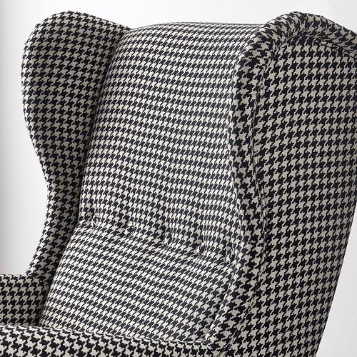 STRANDMON - 扶手椅, Vibberbo 黑色/米黃色 | IKEA 香港及澳門 - PE751436_S4
