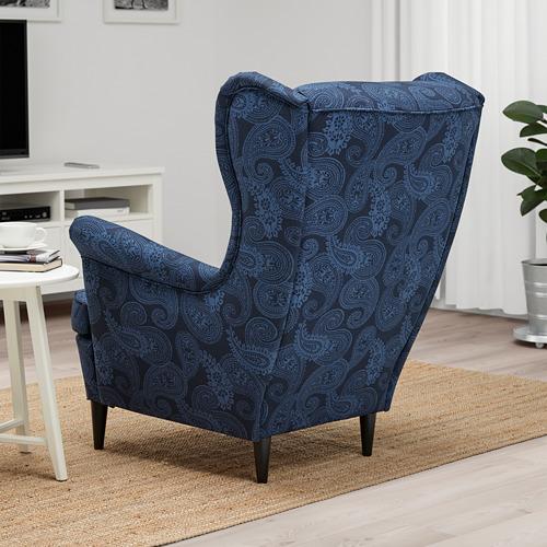 STRANDMON - 扶手椅, Kvillsfors 深藍色/藍色 | IKEA 香港及澳門 - PE807720_S4
