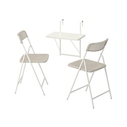 TORPARÖ - 戶外上牆檯連2張摺椅, 白色/米黃色 | IKEA 香港及澳門 - PE807757_S3