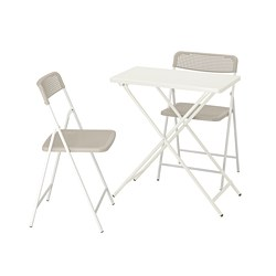 TORPARÖ - 戶外檯連2張摺椅, 白色/米黃色 | IKEA 香港及澳門 - PE807764_S3