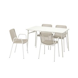 TORPARÖ - 戶外檯連扶手椅組合, 白色/米黃色 | IKEA 香港及澳門 - PE807759_S3