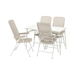 TORPARÖ - 戶外檯連躺椅組合, 白色/米黃色 | IKEA 香港及澳門 - PE807761_S3