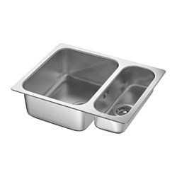 HILLESJÖN - inset sink 1 1/2 bowl, stainless steel | IKEA Hong Kong and Macau - PE607739_S3