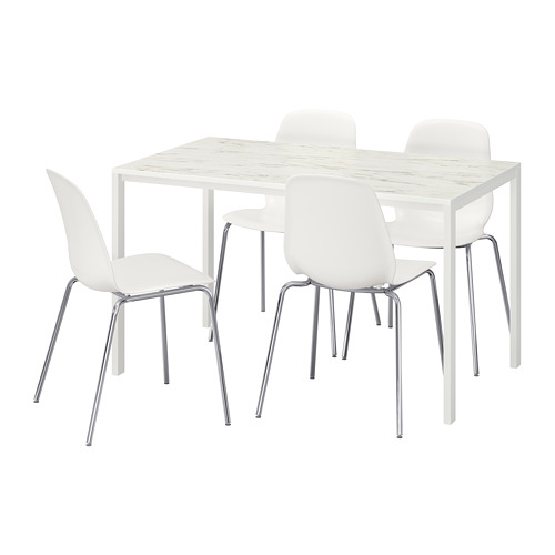 MELLTORP/LEIFARNE 一檯四椅