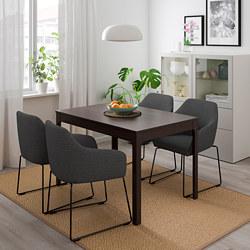 EKEDALEN/TOSSBERG - 一檯四椅, 深褐色 金屬/灰色 | IKEA 香港及澳門 - PE711651_S3