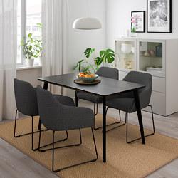 LISABO/TOSSBERG - 一檯四椅, 黑色 金屬/灰色 | IKEA 香港及澳門 - PE711653_S3