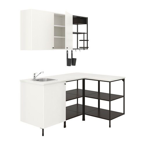 ENHET - 角位廚房, 炭黑色/白色 | IKEA 香港及澳門 - PE807923_S4