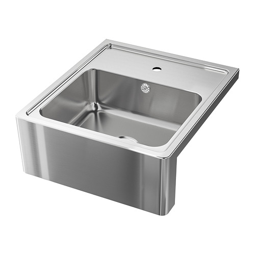BREDSJÖN - sink bowl w visible front, stainless steel | IKEA Hong Kong and Macau - PE711712_S4