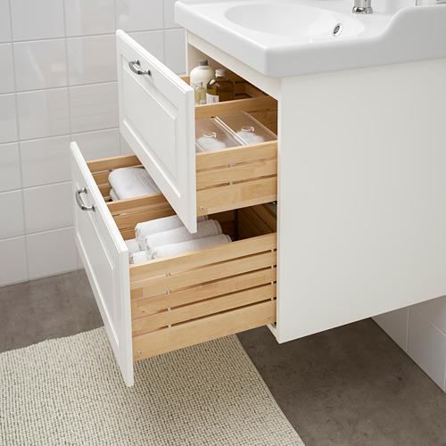 GODMORGON/RÄTTVIKEN - 雙抽屜洗手盆櫃, Kasjön white/Hamnskär tap | IKEA 香港及澳門 - PE661032_S4