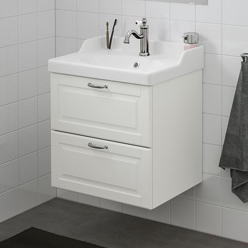 GODMORGON/RÄTTVIKEN - wash-stand with 2 drawers, Kasjön white/Hamnskär tap | IKEA Hong Kong and Macau - PE661033_S4