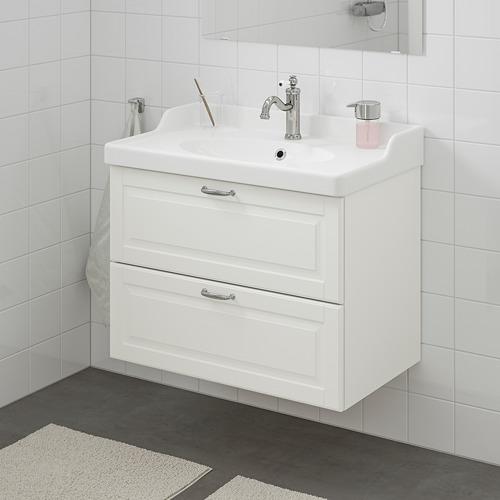 GODMORGON/RÄTTVIKEN - 雙抽屜洗手盆櫃, Kasjön white/Hamnskär tap | IKEA 香港及澳門 - PE661122_S4