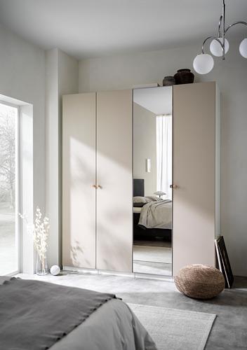 PAX/REINSVOLL/VIKEDAL - 衣櫃組合, 白色/灰米黃色 鏡面玻璃 | IKEA 香港及澳門 - PH171499_S4