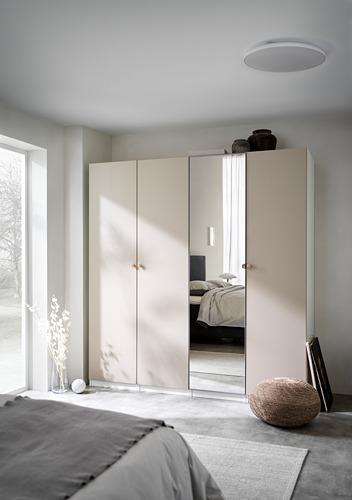 PAX/REINSVOLL/VIKEDAL - 衣櫃組合, 白色/灰米黃色 鏡面玻璃   IKEA 香港及澳門 - PH171732_S4