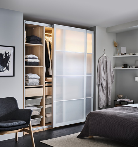 PAX/SVARTISDAL - wardrobe combination, white stained oak effect/white paper effect | IKEA Hong Kong and Macau - PH171446_S4