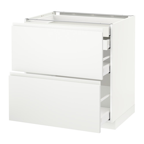 METOD - base cb 2 frnts/2 low/1 md/1 hi drw, white Maximera/Voxtorp matt white | IKEA Hong Kong and Macau - PE545657_S4