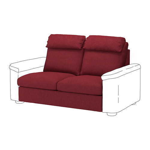 LIDHULT - 2-seat sofa-bed section, Lejde red-brown | IKEA Hong Kong and Macau - PE711762_S4