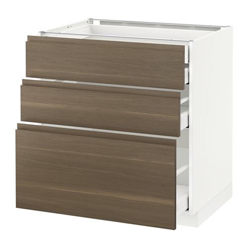 METOD - 廚櫃組合, 白色 Maximera/Voxtorp 胡桃木 | IKEA 香港及澳門 - PE545671_S4