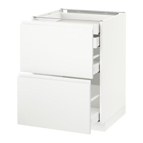 METOD - base cb 2 frnts/2 low/1 md/1 hi drw, white Maximera/Voxtorp matt white | IKEA Hong Kong and Macau - PE545698_S4
