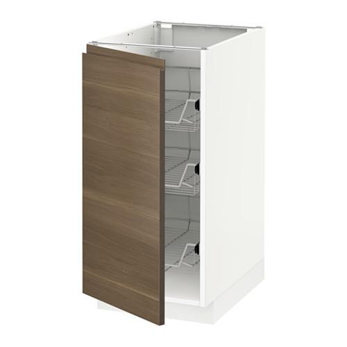 METOD - 地櫃連網籃, 白色/Voxtorp 胡桃木紋 | IKEA 香港及澳門 - PE545706_S4