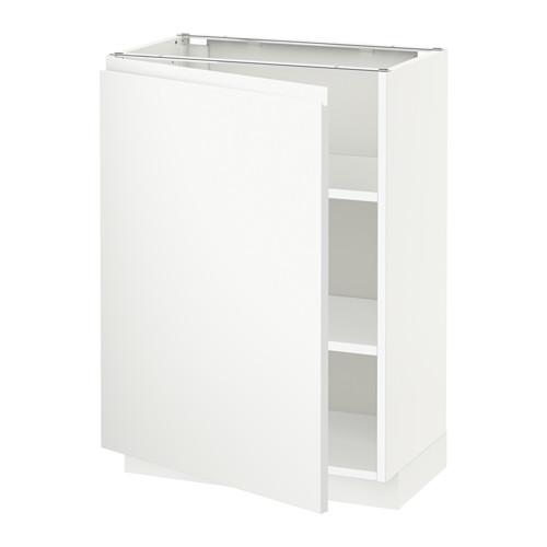 METOD - base cabinet with shelves, white/Voxtorp matt white | IKEA Hong Kong and Macau - PE545714_S4