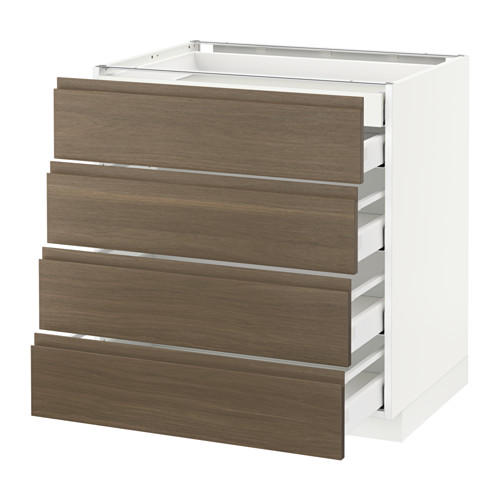 METOD - base cb 4 frnts/2 low/3 md drwrs, white Maximera/Voxtorp walnut | IKEA Hong Kong and Macau - PE545732_S4