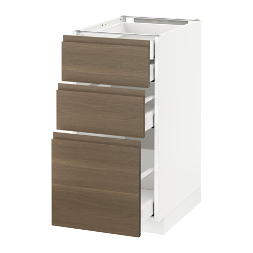 METOD - 廚櫃組合, 白色 Maximera/Voxtorp 胡桃木 | IKEA 香港及澳門 - PE545747_S4