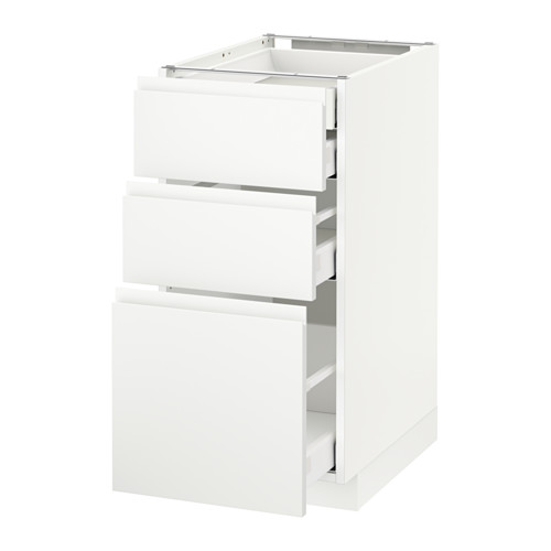 METOD - base cb 3 frnts/2 low/1 md/1 hi drw, white Maximera/Voxtorp matt white | IKEA Hong Kong and Macau - PE545755_S4