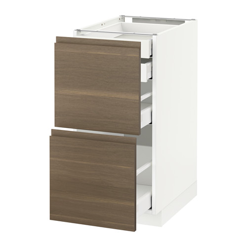 METOD - base cb 2 frnts/2 low/1 md/1 hi drw, white Maximera/Voxtorp walnut | IKEA Hong Kong and Macau - PE545767_S4