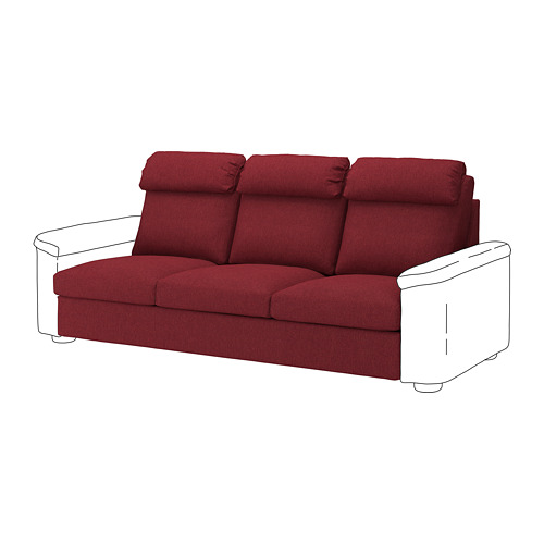 LIDHULT - cover for 3-seat section, Lejde red-brown | IKEA Hong Kong and Macau - PE711810_S4
