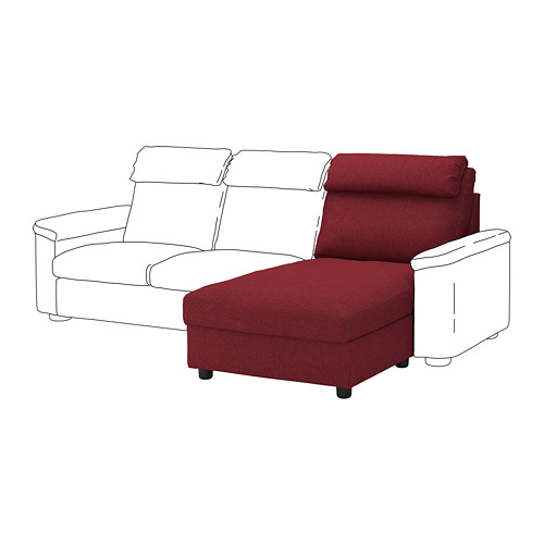LIDHULT - chaise longue section, Lejde red-brown | IKEA Hong Kong and Macau - PE711823_S4