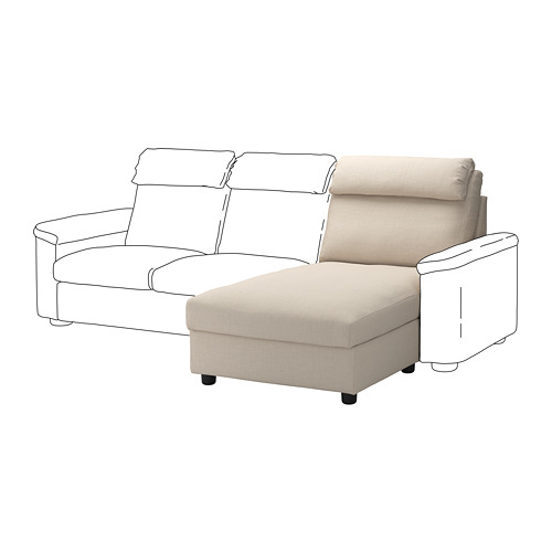 LIDHULT - cover for chaise longue section, Gassebol light beige | IKEA Hong Kong and Macau - PE711829_S4