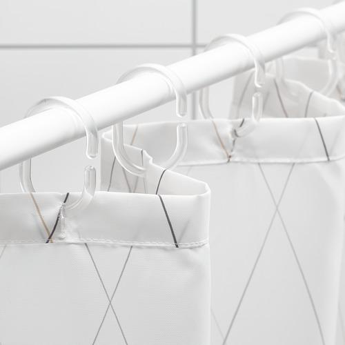 BASTSJÖN - 浴簾, 白色/灰色/米黃色   IKEA 香港及澳門 - PE751855_S4