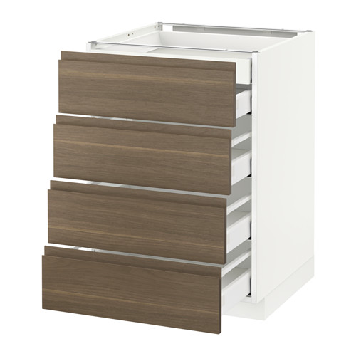 METOD - base cb 4 frnts/2 low/3 md drwrs, white Maximera/Voxtorp walnut | IKEA Hong Kong and Macau - PE545784_S4