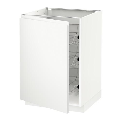 METOD - base cabinet with wire baskets, white/Voxtorp matt white   IKEA Hong Kong and Macau - PE545788_S4