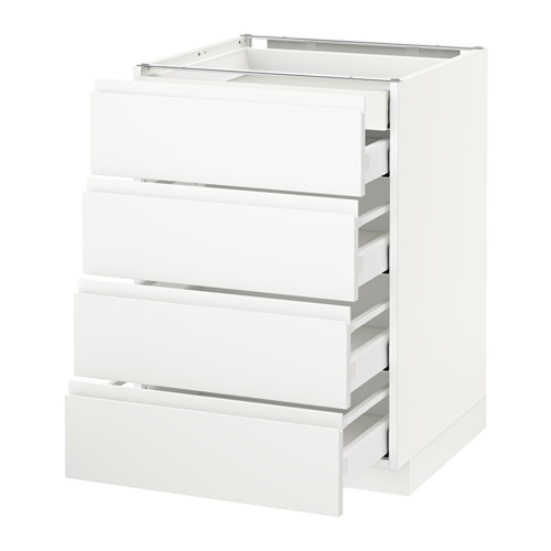 METOD - base cb 4 frnts/2 low/3 md drwrs, white Maximera/Voxtorp matt white | IKEA Hong Kong and Macau - PE545792_S4