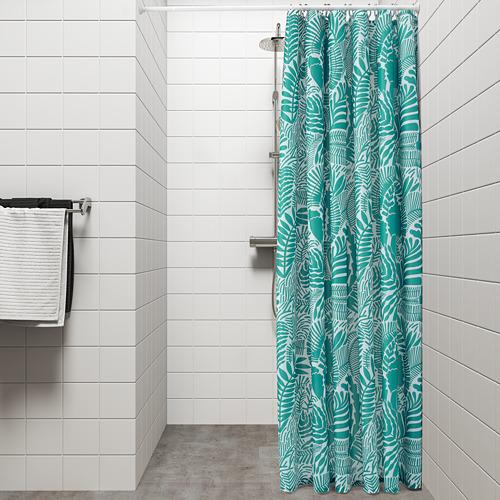 GATKAMOMILL - 浴簾, 湖水綠色/白色   IKEA 香港及澳門 - PE751865_S4