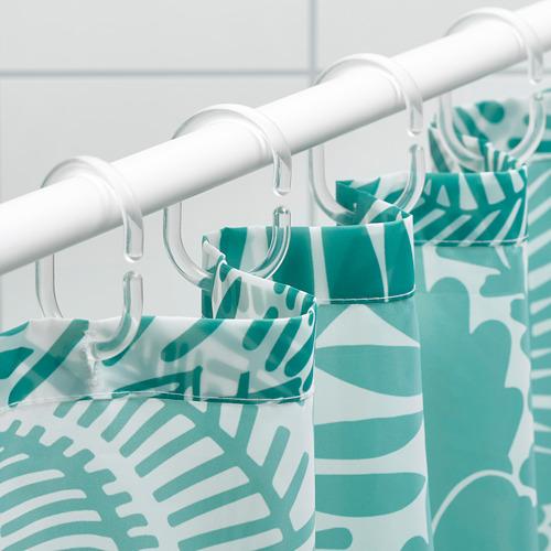 GATKAMOMILL - 浴簾, 湖水綠色/白色   IKEA 香港及澳門 - PE751868_S4