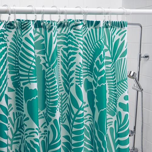 GATKAMOMILL - 浴簾, 湖水綠色/白色   IKEA 香港及澳門 - PE751867_S4
