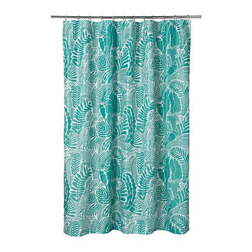 GATKAMOMILL - 浴簾, 湖水綠色/白色   IKEA 香港及澳門 - PE751866_S4