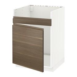 METOD - HAVSEN單星盆底櫃, 白色/Voxtorp 胡桃木紋 | IKEA 香港及澳門 - PE545890_S3