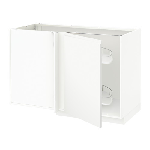 METOD - 角位地櫃連拉出式配件, white/Voxtorp matt white   IKEA 香港及澳門 - PE545974_S4