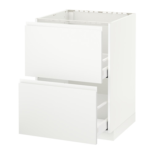 METOD/MAXIMERA - 星盆用地櫃連2面板/2抽屜, white/Voxtorp matt white | IKEA 香港及澳門 - PE545982_S4