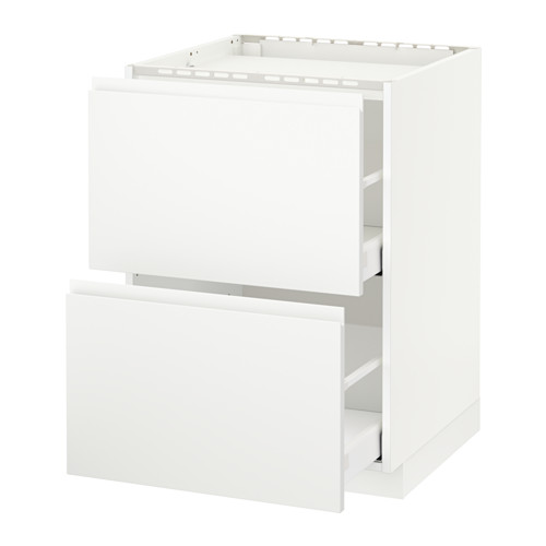 METOD/MAXIMERA - base cab f hob/2 fronts/2 drawers, white/Voxtorp matt white | IKEA Hong Kong and Macau - PE546000_S4